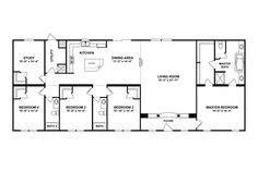 Clayton Homes  4 Bedrooms and Bonus Room Floor Plan