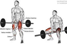 Jefferson squat exercise