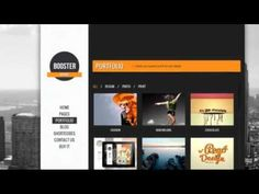 BOOSTERIUS - Responsive one page slide WordPress theme + Free Download
