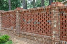 Masonry Fence Design Eye catching masonry fence gardening ideas pinterest fences do it yourself masonry how to build a brick lattice fence workwithnaturefo