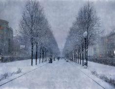 Alley, snow