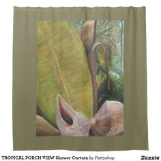 TROPICAL PORCH VIEW Shower Curtain