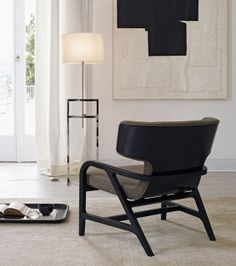 The Fulgens design Armchair B&B Italia Maxalto, designed by Antonio Citterio is available in fabric or leather. Safe Shopping on Lomuarredi Contemporary Chairs, Contemporary Bedroom, Interior House Colors, Interior Design, White Bedroom Chair, Armchair With Ottoman, Traditional Sofa, B & B, Furniture Design