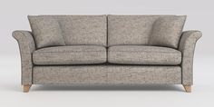 Buy Brompton Large Sofa (3 Seats) Boucle Weave Light Dove Low Tapered - Light from the Next UK online shop