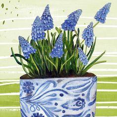 You say muscari I say grape hyacinth - let's call the whole thing simply brilliant! Link to her fantastic work in our IG profile. @rachel_grant_art