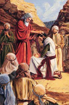 Old Testament. Moses ordains Joshua.