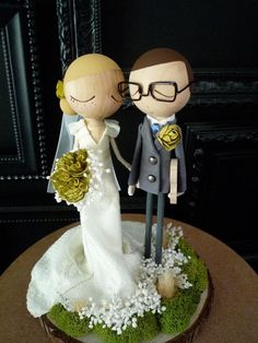 Wedding Cake Topper with Custom Wedding Dress - Custom Keepsake by ...