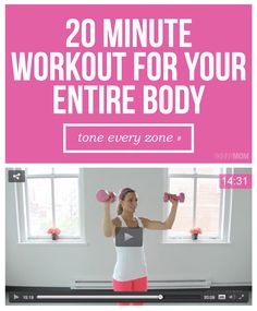 Tone ALL OVER with this full body workout. It targets all your trouble areas in 20 minutes.
