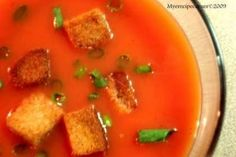 Tomato Soup (Home-made soup with fresh tomatoes)