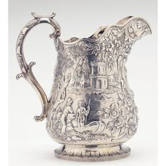 Leland Little Auctions has been providing collectors, families, estates and institutions with world-class auction services for over 20 years. Silver Enamel, Antique Silver, Silver Plate, Silver Highlights, Beautiful Things, Vintage Items, December, Table Settings, Castle