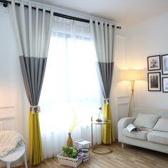 Günstige 3 Farben Striped Blackout Vorhänge Für Das Schlafzimmer Baumwolle  Leinen Moderne Vorhänge Für Wohnzimmer Vorhänge