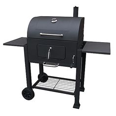 The Vista Charcoal Grill from Landmann USA provides 576 sq. in. of cooking space on porcelain cast iron cooking grates. The adjustable charcoal pan and temperature gauge allow optimum heat control.