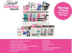 Your starter kit is $149 (a $300+ value), and ships free!  It includes everything you need to hold your first Empower Hour.   http://www.thatsafetychick.com