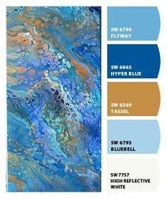 Acrylic Pour #18 www.seejanecolor.net Paint Color Combos, Color Schemes Colour Palettes, Create Color Palette, Colour Pallete, Paint Colors, Fluid Acrylic, Acrylic Pouring Art, Flow Painting, Pour Painting