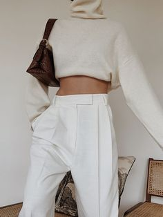 Woman All White Outfits Look Fashion, Winter Fashion, Fashion Outfits, Womens Fashion, Fashion Trends, Woman Outfits, Cheap Fashion, Looks Style, My Style