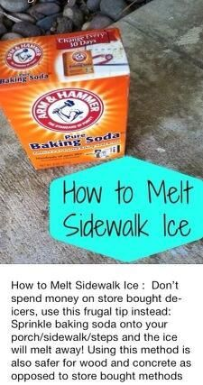 Melt sidewalk ice