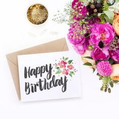 www.clementinecreative.co.za.    printable-birthday-card-with-watercolur-florals-1
