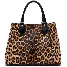 DIANE VON FURSTENBERG Voyage Large Bonded Leather Leopard Carryall... ($349) ❤ liked on Polyvore featuring bags, handbags, tote bags, purses, leopard, genuine leather tote, leather hand bags, leopard print purse, leopard print handbags and handbags & purses