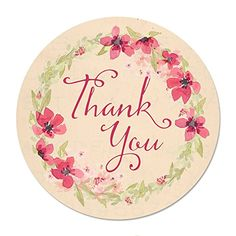 90 Thank You Floral Watercolor Stickers, 1.5 Inch, Gloss ... https://www.amazon.com/dp/B01D2CZ0KM/ref=cm_sw_r_pi_dp_x_mDwYxbFZZS0P5