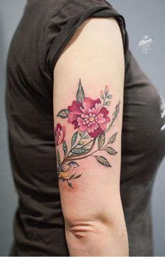 Magdalena Bujak flower tattoo