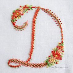 Errata Notice for Stitch Sampler Alphabet Floral Embroidery Patterns, Simple Embroidery, Hand Embroidery Stitches, Cross Stitch Embroidery, Embroidery Designs, Embroidery Alphabet, Embroidery Monogram, Ribbon Embroidery, How To Embroider Letters