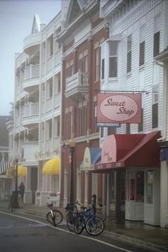 """MACKINAC ISLAND:    """"Sweet""""  Haunted  Places .. Mackinac Island is one of several haunted locations in Michigan ...Haunted !"""
