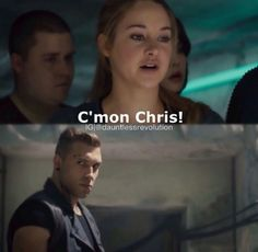 "So Tris decided to call Christina ""Chris"" in the movie. Like what the hell."