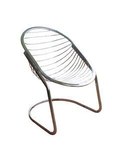 Vintage Chrome Egg Chair
