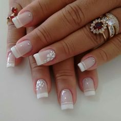If you love to get your nails done, you've got to try these ideas and tutorials of French ombre nails. Beautiful Nail Designs, Cute Nail Designs, Perfect Nails, Gorgeous Nails, Cute Nails, Pretty Nails, Luxury Nails, Nail Decorations, Flower Nails