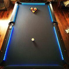 Put leds on my pool table. #ledlighting #pooltable #billards by sixxarp