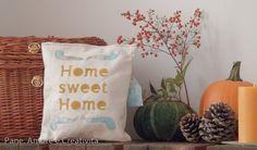Regali di Natale fai da te: il cuscino home sweet home da regalare all'amica