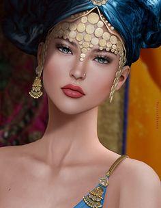 by Magissa Denver Character Portraits, Character Art, Second Life Avatar, Digital Art Girl, Fantasy Girl, Beautiful Artwork, Face Art, Cute Drawings, Beauty Women