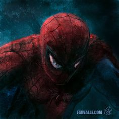 Spider-Man close up by Fabvalle sur Deviant Art