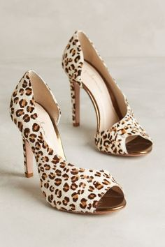 Guilhermina Asymmetric Leopard Pumps - anthropologie.com