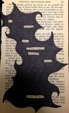 Art Therapy Ideas. Find words that form a mini story or poem and black out the rest.