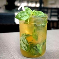The Beliz - a great mocktail with passion fruit, soda and fresh basil!