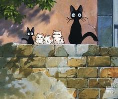 Kiki's Delivery Service Cat, Art Studio Ghibli, We Heart It, Asian Photography, Ghibli Movies, Cool Animations, Art Sketchbook, Cute Drawings, Aesthetic Anime