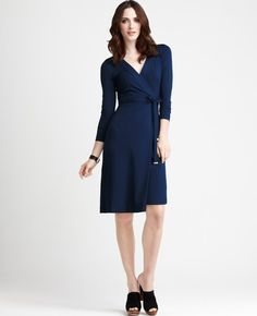 A great way to flatter your figure? Try a wrap dress. #fashion