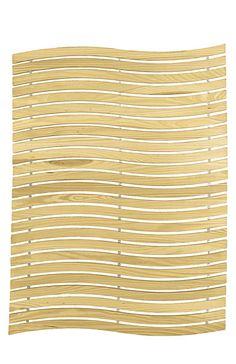 Kleine Wolke Pinien-Holzmatte fürs Bad 50x80cm natur Wave