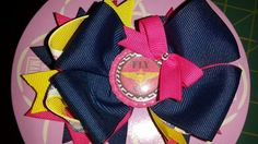 Fly Navy boutique hair bow- Hair Bows- Boutique Hair Bows- Hair Accessories-Girls Hair Accessories- Handmade Accessories and Gifts by Tutu Amaezing Boutique.  Facebook.com/tutuamaezingboutique Www.etsy.com/shop / TutuAmaezingBoutique