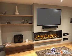 The Corner Style by European Home is a trimless electric fireplace. Evoflame technology creates a robust flame effect while providing all the added benefits of an electric fireplace such as: energy savings and installation flexibility. Inset Fireplace, Fireplace Tv Wall, Modern Fireplace, Fireplace Design, Bioethanol Fireplace, Fireplace Ideas, Feature Wall Living Room, Living Room Tv, Living Room With Fireplace