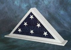 Urns Northwest  - Gray Granite Flag Case made from Solid Surface Material, $299.00 (http://urnsnw.com/gray-granite-flag-case-made-from-solid-surface-material/). Made in the USA.
