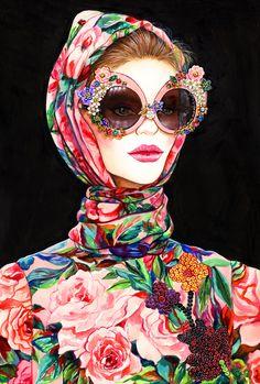 Inspired by Dolce & Gabbana Spring 2016 -- Sunny Gu