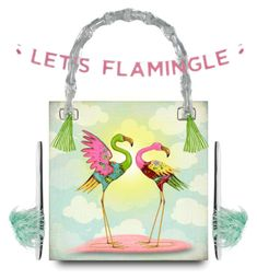 """""""Let's Flamingo Bag Design"""" by smorgasbordhotel on Polyvore featuring art, flamingos and artexpression"""