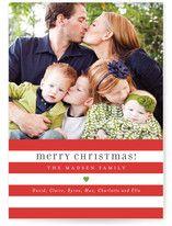 Bright Stripes Christmas Photo Cards