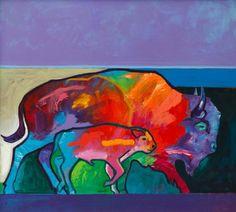 Buffalo DNA Acrylic on Canvas by John Nieto