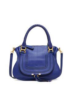 Marcie Medium Satchel Bag, Blue by Chloe at Neiman Marcus.