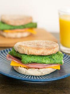 Green Eggs and Ham Breakfast Sandwiches