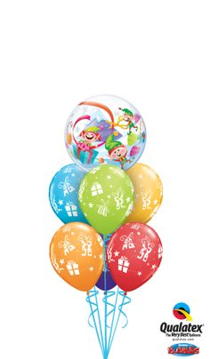 Christmas doesn't have to be only red and green! Check out our beautiful Lime Green, Orange and Carribean Blue balloons #qualatex #balloon #christmas