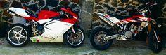My babys Mv Agusta F41000 & Husqvarna SMR450